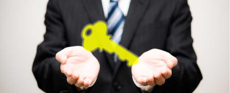 従業員が紛失した会社の鍵