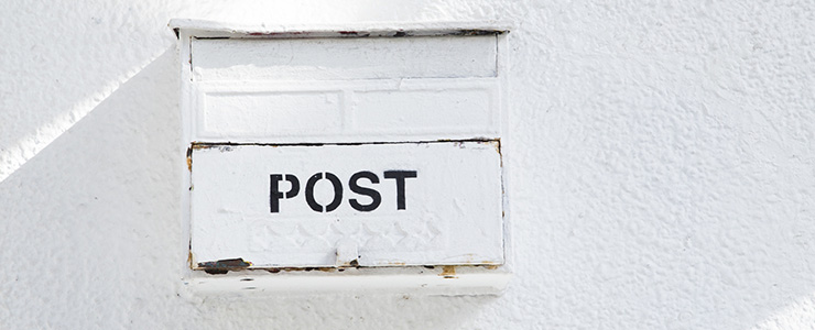 家の前に設置されているポスト