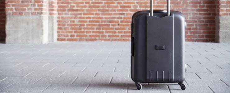 旅行で持って来たスーツケース